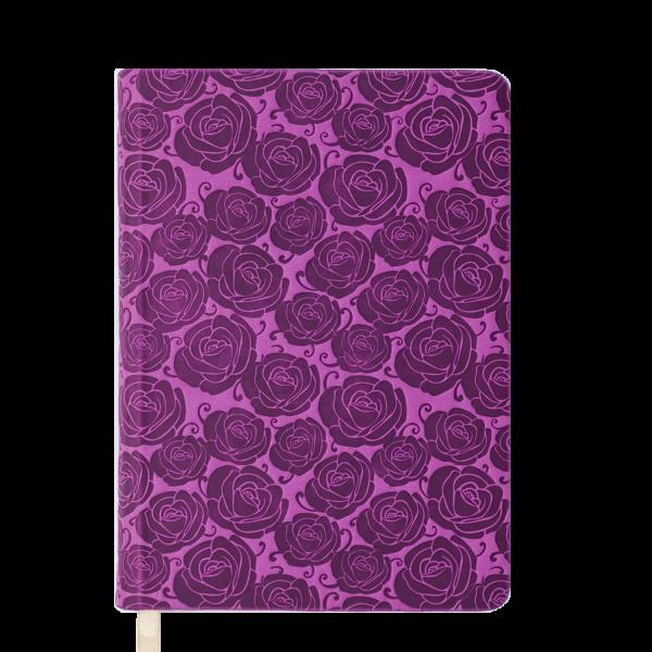 Ежедневник А5 недатированный FLEUR розовый, кремовый блок