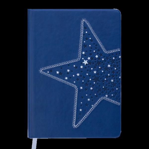 Ежедневник А5 недатированный STELLA синий, кремовый блок