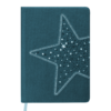 Ежедневник А5 недатированный STELLA темно-бирюзовый, кремовый блок
