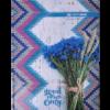 Книга канцелярская ROMANTIC А4, 96 листов, твердая обложка, клетка, синий