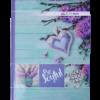 Книга канцелярская ROMANTIC А4, 96 листов, твердая обложка, клетка, бирюзовый