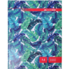Книга канцелярская FLORISTICA А4, 144 листа, твердая обложка, клетка, бирюзовый