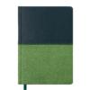 Ежедневник А6 недатированный QUATTRO темно-зеленый и светло-зеленый