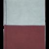 Ежедневник А6 недатированный QUATTRO бордовый и серый