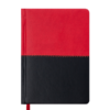 Ежедневник А6 недатированный QUATTRO красный с черным