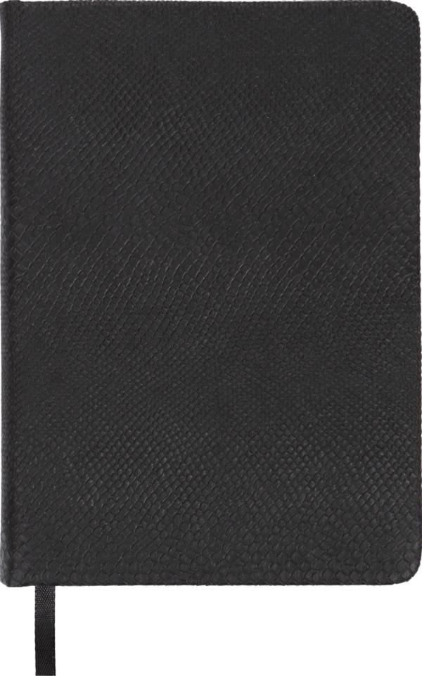 Ежедневник А6 недатированный AMAZONIA черный, серебристый срез