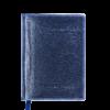 Ежедневник А6 недатированный METALLIC синий, тонированный срез
