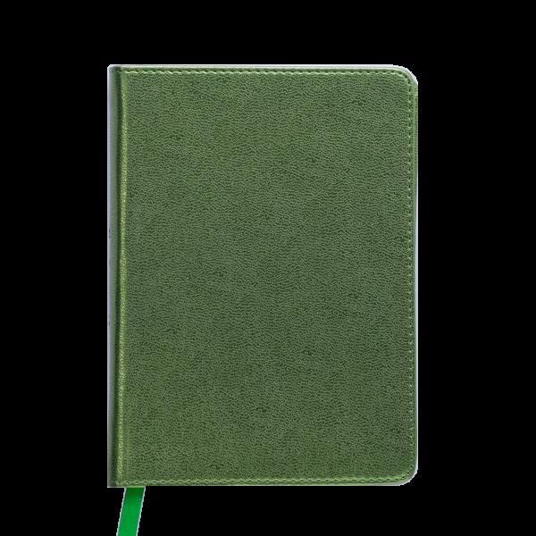 Ежедневник А6 недатированный METALLIC зеленый, тонированный срез