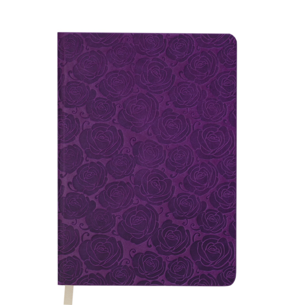 Ежедневник А6 недатированный FLEUR вишневый