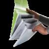Папка-конверт DL на 4 отделения,  на липучке TRAVEL (евро-формат) 22472