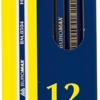 Карандаш НВ шестигранный с ластиком, золотые и серебряные грани 22987