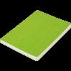 Блокнот деловой COLOR TUNES, А5, 96л., обложка из кожзама, чистые листы, салатовый