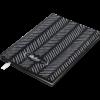 Блокнот деловой RELAX, А5, 96л., обложка из кожзама, чистые листы, черный