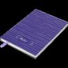 Блокнот деловой RELAX, А5, 96л., обложка из кожзама, чистые листы, фиолетовый