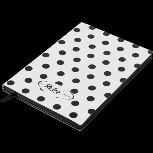 Блокнот деловой RELAX, А5, 96л., обложка из кожзама, в линию, белый