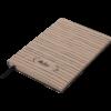 Блокнот деловой RELAX, А5, 96л., обложка из кожзама, чистые листы, капучино
