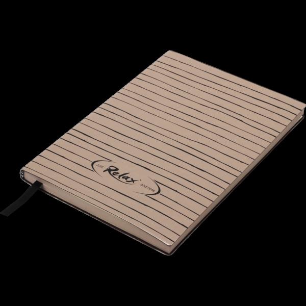 Блокнот деловой RELAX, А5, 96л., обложка из кожзама, в линию, капучино