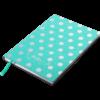 Блокнот деловой RELAX, А5, 96л., обложка из кожзама, чистые листы, мятный