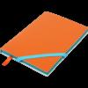 Блокнот деловой LOLLIPOP, А5, 96л., обложка из кожзама, на резинке, чистый, оранжевый