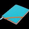 Блокнот деловой LOLLIPOP, А5, 96л., обложка из кожзама, на резинке, чистый, голубой
