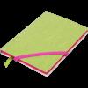 Блокнот деловой LOLLIPOP, А5, 96л., обложка из кожзама, на резинке, чистый, салатовый