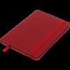 Блокнот деловой BRIEF, А5, 96л., обложка из кожзама, на резинке, в линию, красный