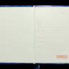 Блокнот деловой CHERIE, А5, 96л., гибкая обложка из кожзама, в клетку, темно-синий 24581