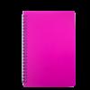 Тетрадь на пружине BRIGHT А5, 60 листов с пластиковой обложкой, розовый