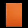 Тетрадь на пружине BRIGHT А5, 60 листов с пластиковой обложкой, оранжевый