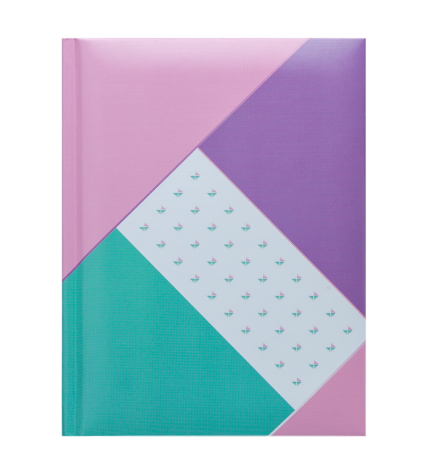 Блокнот FUSION, А5, 80л., обложка с поролоном, в клетку, фиолетовый