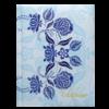 Блокнот TRACERY, А5, 80л., обложка с поролоном, в клетку, синий
