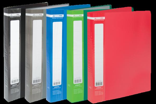 Папка пластиковая А4 с 60 файлами JOBMAX