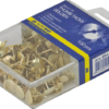 Кнопки золотистые 100шт/уп в пластиковом контейнере 23870