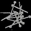 Булавки с белыми круглыми головками, 80шт , 34мм JOBMAX