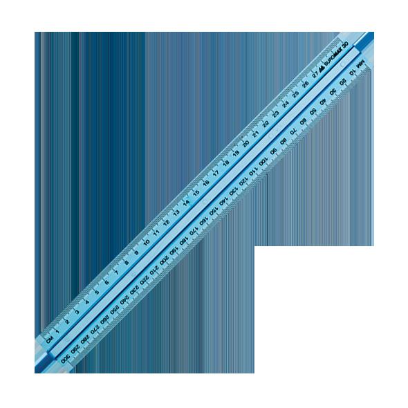 Линейка 30 см, пластиковая, тонированная с держателем
