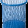 Подставка для ручек, металлическая сетка, круглая, 3 цвета 23184
