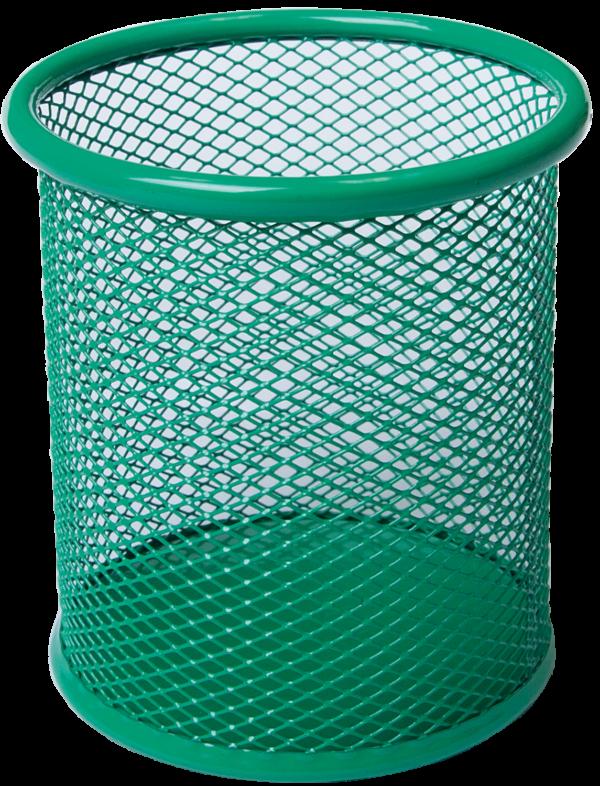 Подставка для ручек, металлическая сетка, круглая, 3 цвета