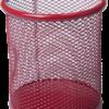 Подставка для ручек, металлическая сетка, круглая, 3 цвета 23182
