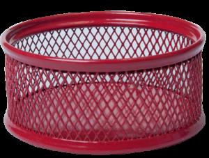 Подставка для скрепок, металлическая сетка, круглая (син, зел, крас)