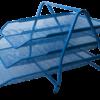 Лоток горизонтальный 3-х ярусный, 295х350х270мм, металлический (син, зел, крас)