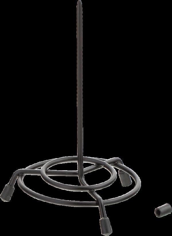 Спица для бумаг 150х80мм, металлическая,черная