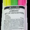 Набор маркеров текстовых 3шт. JOBMAX, круглый корпус
