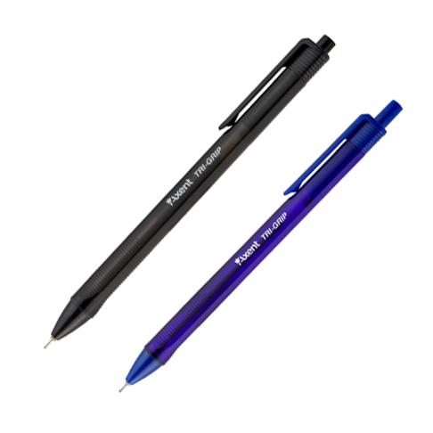Ручка масляная TRI-GRIP автоматическая, пластиковый корпус, треугольная зона захвата