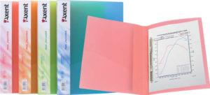 Папка пластиковая А4 с пружинным сшивателем, прозрачная (4 цвета)