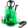 Набор настольный CASCADE пластиковый, 9 предметов, полупрозрачный (3 цвета)