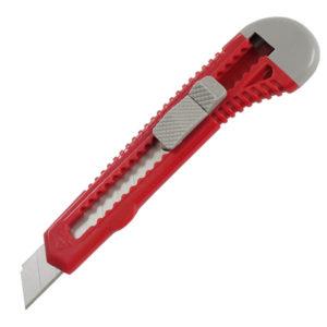 Нож универсальный 18 мм в пласт. корпусе, механический фиксатор