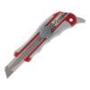 Нож универсальный 18 мм в пласт. корпусе с метал. направляющей, с доп.крючком, винт