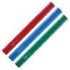 Линейка 30 см, пластиковая матовая, разноцветные (бордовый, синий, зеленый)