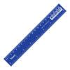 Линейка 20 см, пластиковая, синяя