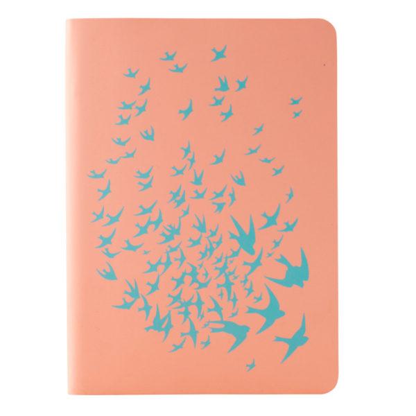 Записная книжка Partner Soft Mini Birds, 115х160мм, 80л, гибкая обложка, крем. бумага, клетка